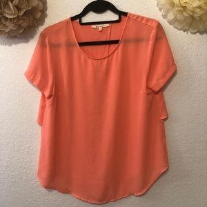 Cute Peach Blouse